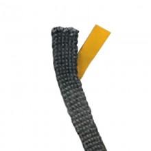 Treccia Adesiva In Textape (Filati Di Vetro) Nera 10X3mm, Temperatura Fino A 600°C, Per Fissaggio Vetri Porta. (Nb. Prezzo Rifer
