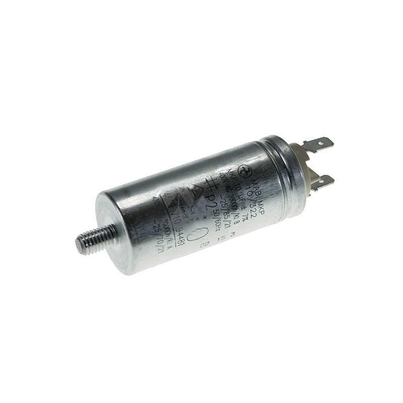Condensatore 10Uf Asciugatrice BAUKNECHT, IGNIS, WHIRLPOOL - 481212118144